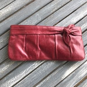 Kooba Red Leather Clutch